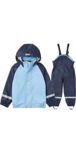2021 Helly Hansen Kids Bergen Pu Rain Set 40360 - Navy