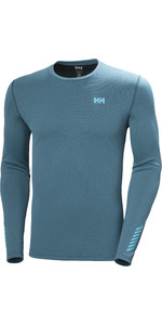 2021 Helly Hansen Men's Lifa Active Solen Manga Comprida Top 49348 - Azul-petróleo Norte