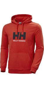 2021 Helly Hansen Mænds Hættetrøje Med Logo 33977 - Alarm Rød