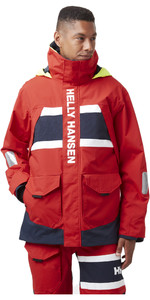 2021 Helly Hansen Mens Salt Coastal Jacket 30221 - Alert Red