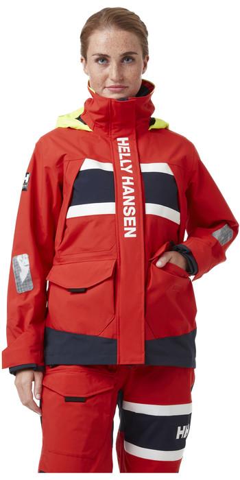 2021 Helly Hansen Damen- Salt Coastal Jacke 30344 - Alarm Rot