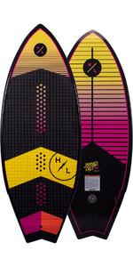 2021 Hyperlite Broadcast Ltd 4.8 Wakesurf Board H21brltd - Schwarz / Pink / Gelb