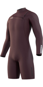 2021 Mystic Mens Marshall 3/2mm Long Sleeve Shorty Wetsuit 210112 - Merlot