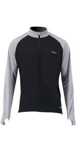 2021 Prolimit Mens Quick Dry Long Sleeve SUP Top 14430 - Black / Grey