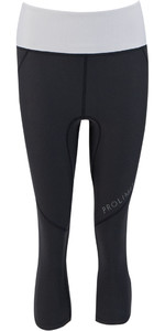 2021 Prolimit Womens Athletic Quick Dry 3/4 Leg SUP Trousers 14770 - Black / Light Grey