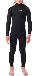 2021 Rip Curl Junior Boys Dawn Patrol 3/2mm GBS Chest Zip Wetsuit WSM9KB - Black