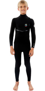 2021 Rip Curl Junior Flashbomb 4/3mm Zip Free Wetsuit WSMYYB - Black