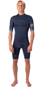 2021 Rip Curl Mens Dawn Patrol 2mm Back Zip Shorty Wetsuit WSP9AM - Slate