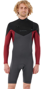 2021 Rip Curl Mens Dawn Patrol 2mm Long Sleeve Chest Zip Wetsuit WSP9HM - Maroon