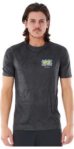 2021 Rip Curl Men Mind Wave T-shirt Uv Manica Corta Wly3sm - Nero