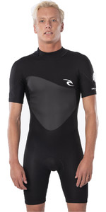 2021 Rip Curl Mens Omega 1.5mm Shorty Wetsuit WSP8CM - Black