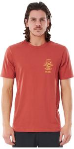 2021 Rip Curl Männer Sucher Kurzarm UV-T-Shirt Wly34m - Kastanienbraun