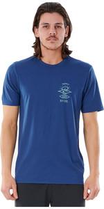 2021 Rip Curl Hombres Camiseta De Manga Corta Uv Buscadores Wly34m - Navy