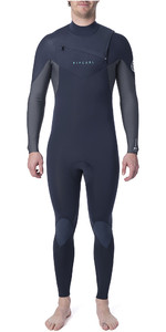 2021 Rip Curl Mens Dawn Patrol Warmth 4/3mm Chest Zip Wetsuit WSM9CM - Navy