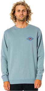 2021 Rip Curl Mænds Swc Diamond Crew Langærmet T -shirt Cfefl9 - Mineralgrøn