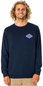 2021 Rip Curl Mænds Swc Diamond Crew Langærmet T -shirt Cfefl9 - Navy