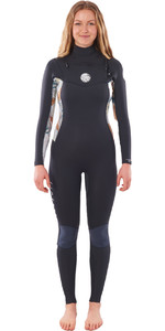 2021 Rip Curl Women Dawn Patrol 3/2mm Chest Zip WSM9CS - Charcoal Grey