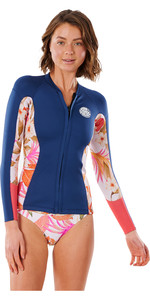 2021 Rip Curl Women Dawn Patrol 1.5mm Long Sleeve Wetsuit Jacket WVE8BW - Pink