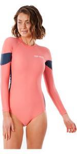 2021 Rip Curl Golden State Traje De Surf De Manga Larga Para Mujer Wlu3fw - Hot Coral