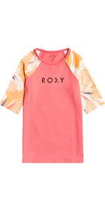 2021 Lycra Vest Manica Corta Lycra Stampata Bambina Roxy Ergwr03241 - Salmone Buff / Picolo