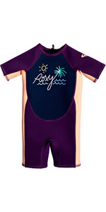 2021 Roxy Toddler Syncro 1.5mm Spring Shorty Wetsuit EROW503002 - Deep Indigo / Mulberry / Sun Glow