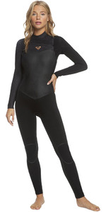 2021 Roxy Womens Performance 4/3mm Chest Zip Wetsuit ERJW103061 - Black / Rose Gold