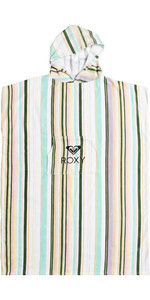 2021 Roxy Womens Stay Magical Printed Change Robe / Poncho ERJAA03827 - Bright White / Kamuela Stripe