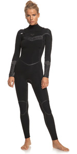 2021 Roxy Feminino Syncro + 4/3mm Chest Zip Wetsuit Erjw103059 - Preto