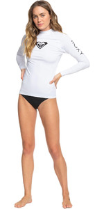 Lycra Vest Manica Lunga Da Donna Roxy 2021 Erjwr03408 - Bianco