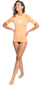 Lycra Vest Manica Corta Da Donna Roxy 2021 A Cuore Intero Erjwr03409 - Color Salmone
