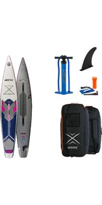 2021 Stx Touring Pure 14'0 Gonflable Stand Up Paddle Board - Planche, Sac, Pompe Et Laisse - Violet / Bleu