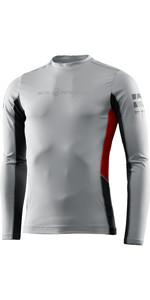 2021 Sail Racing Herren Referenz Langarm Rash Vest 40601 - Hellgrau