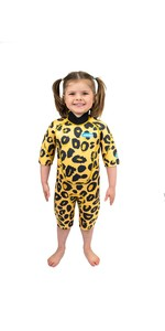 2021 Saltskin Junior 2mm Back Zip Shorty Wetsuit STSKNLEOPD02 - Leopard