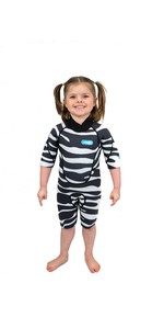 2021 Saltskin Junior 2mm Back Zip Shorty Wetsuit STSKNZBR02 - Zebra