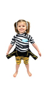 2021 Saltskin Junior Short Sleeve Rash Vest STSKNZBR04 - Zebra