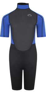 2021 Typhoon Junior Storm3 3/2mm Back Zip Shorty Wetsuit 25093 - Black / Nite Blue