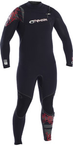2021 Typhoon Mens Kona 3mm Chest Zip Wetsuit 250702 - Black / Rustic Red