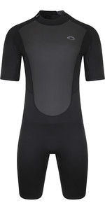 2021 Typhoon Mens Storm3 3/2mm Back Zip Shorty Wetsuit 250794 - Black / Graphite