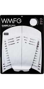 2021 Wmfg Classic Six Pack Grooved Traction 3.0 Kiteboard Deckpad Wmtr3cl6 - Bianco