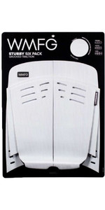 2021 Wmfg Stubby Six Pack Grooved Traction 2.0 Kiteboard Deckpad Wmtr3st6 - Bianco