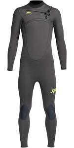 2021 Xcel Junior Comping 4/3mm Chest Zip Wetsuit Kn43zx - Graphite