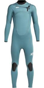 2021 Xcel Junior Comping 4/3mm Chest Zip Wetsuit Kn43zx - Aluminiumfolie