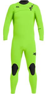 2021 Xcel Mannen Comping 3/2mm Chest Zip Wetsuit Mn32zx - Fluor Lime