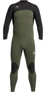 2021 Xcel Mannen Comping 4/3mm Chest Zip Wetsuit Mn43zxc0d - Donker Bos / Zwart