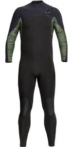 2021 Xcel Mannen Phoenix 3/2mm Chest Zip Wetsuit Mn32gbx0b - Zwart / Groen Camo