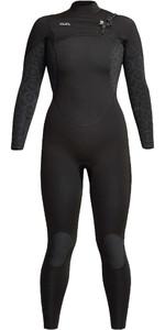 2021 Xcel Womens Comp 3/2mm Chest Zip Wetsuit WN32ZX - Black / Flower