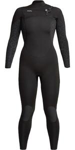 2021 Xcel Vrouwen Comping 5/4mm Chest Zip Wetsuit Wn54zxc0 - Zwarte Bloem
