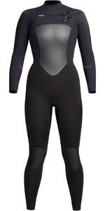 2021 Xcel Vrouwen Infiniti 4/3mm Chest Zip Wetsuit Wr433z20 - Zwart