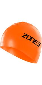 2021 Zone3 Bonnet De Bain Silicone Sa18scap - Orange Haute Visibilité