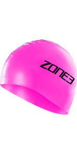 2021 Zone3 Siliconen Badmuts Sa18scap - Signalisatie Roze